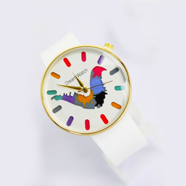 """Часы наручные """"Радуга в руках"""" цветные кляксы - заказать и купить"""