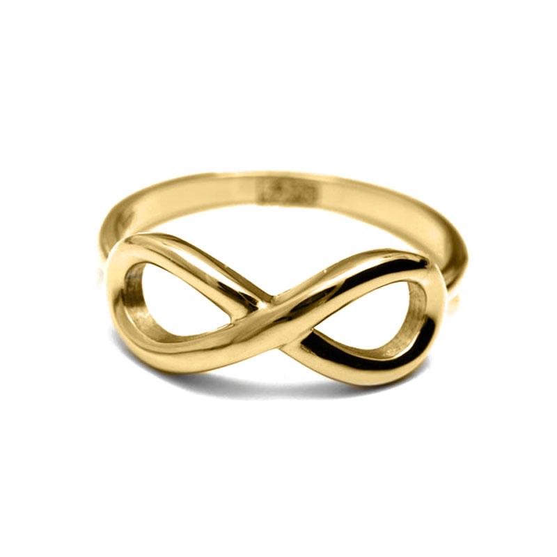 Ваше Золото Кольцо Со Знаком Бесконечности